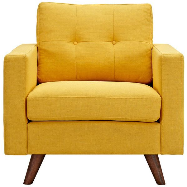Dot & Bo Graham Armchair in Yellow (1.970 BRL) ❤ liked on Polyvore featuring - Top 25+ Best Yellow Accent Chairs Ideas On Pinterest Yellow Seat