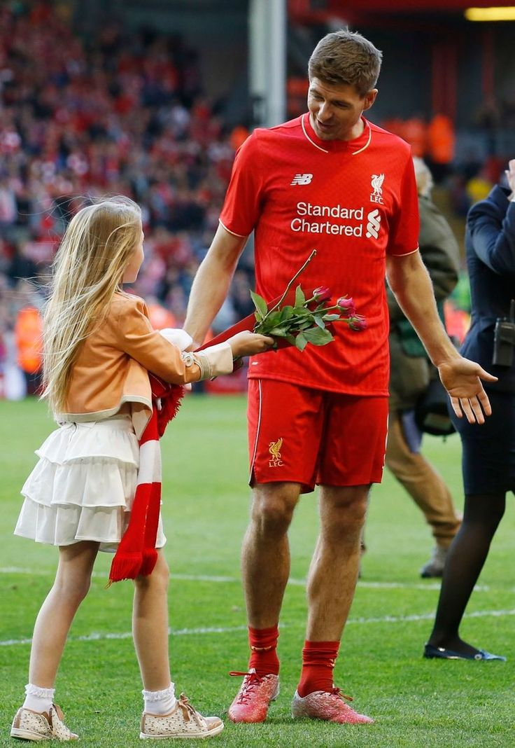 Liverpool's Steven Gerrard as he walks on the pitch after his final game at Anfield