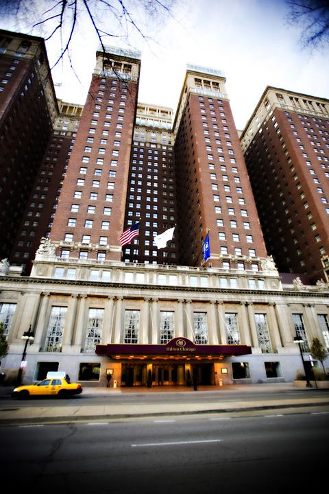 Hilton Chicago on S. Michigan - Home of the Blackhawks Convention.