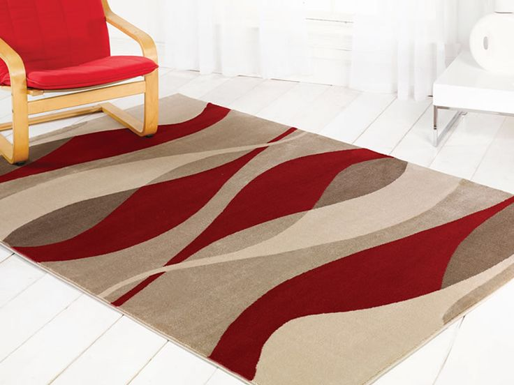 For High Quality Rugs At Great Prices The Sincerity Modern Contour Rug Red A Price And Get Free Fast Delivery