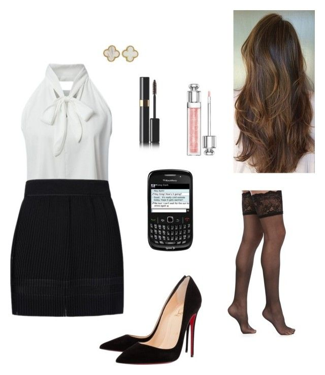"""Anastasia Grey - The """"Almost Indecently Short"""" Black Skirt for Work by ohmyfifty on Polyvore"""