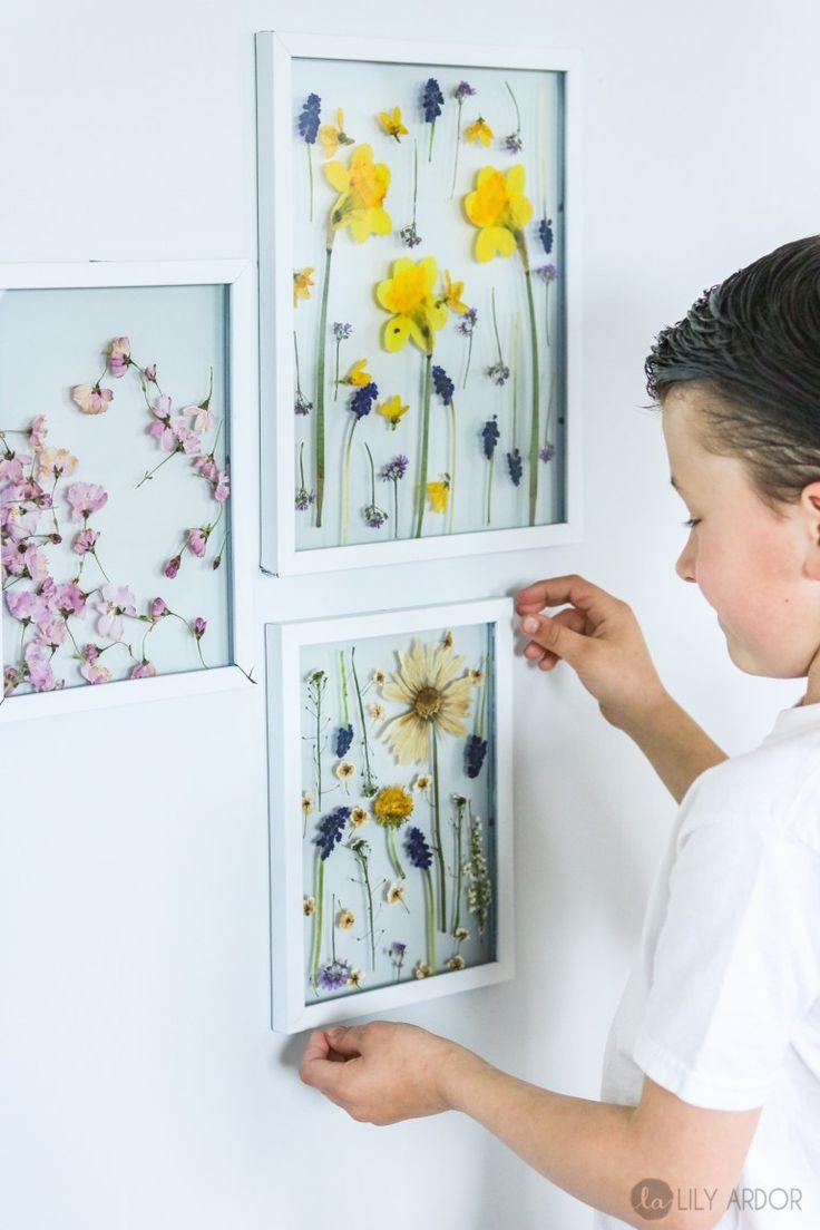 Muttertags Bastelideen. Trocknen von Blumen im …  #bastelideen #blumen #mutter…
