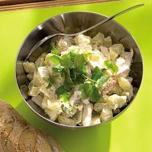 Recept - Aardappelsalade met gerookte kip - Allerhande