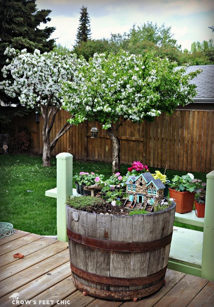Fairy Garden With DIY Stone House