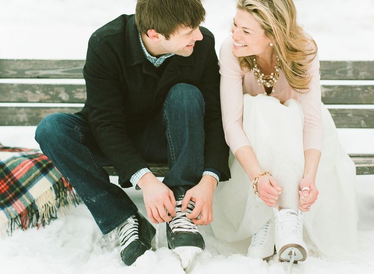winter skating engagement