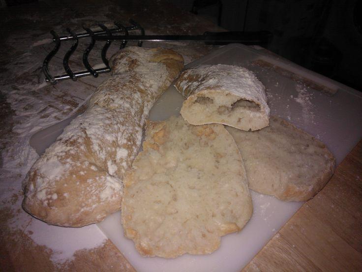 Ciabatta bread courtesy of Paul Hollywood's recipe!