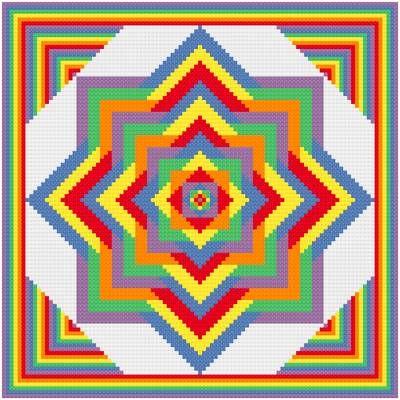 geometric cross stitch patterns   Ever Expanding Cross Stitch Pattern arts
