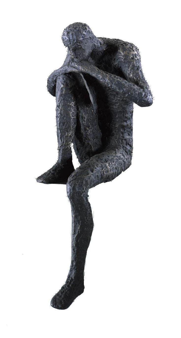 Bronzed Iron Shelf Statues - Mecox Gardens