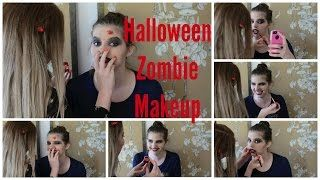 Two Bored Girls - YouTube Video - Super Easy Tutorial for Zombie Makeup - Halloween