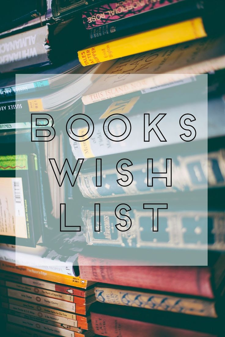 Check out my book wish list