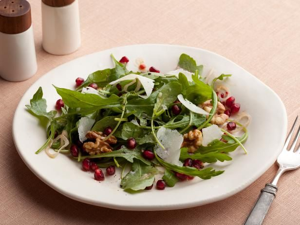 Pomegranate, Arugula Salad #ThanksgivingFeastFood Network, Salad Recipes, Food Blog, Thanksgiving Appetizers, Tyler Florence, Cooking Tips, Arugula Salad, Appetizers Recipe, Cooking Channel
