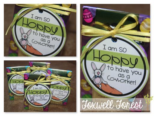 Easter Gift Tag FREEBIE - Foxwell Forest