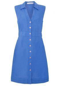 Vestido Chemise Richards linho - azul