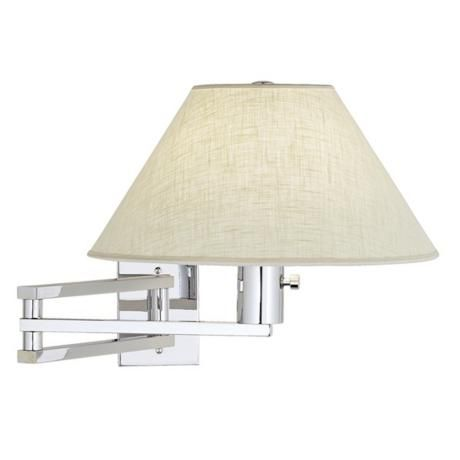 urban series chrome swing arm wall lamp can be converted with kit to plug in - Wall Lamps For Bedroom