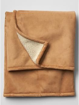 Shearling blanket