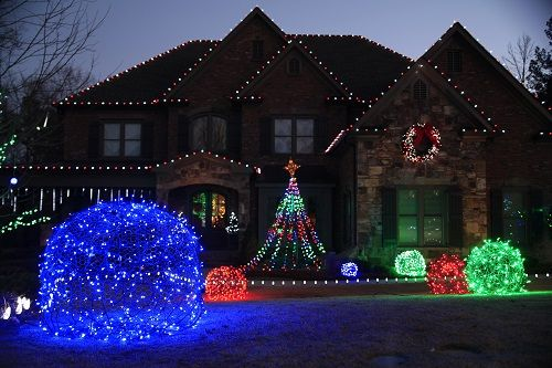 diy christmas ideas make a tree of lights using a basketball pole trees a tree and diy. Black Bedroom Furniture Sets. Home Design Ideas