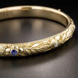 Victorian Bangle with Sapphires & Diamonds