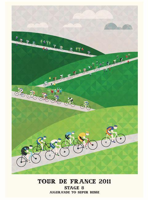 Lovely Tour de France Poster Series - My Modern Metropolis