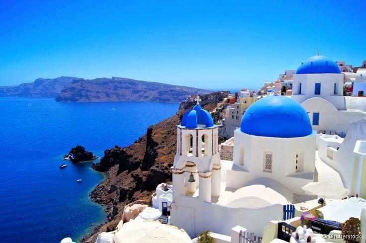 Santorini (Grécia) - Localizada ao sul do mar Egeu, Santorini é a ilha grega mais conhecida...