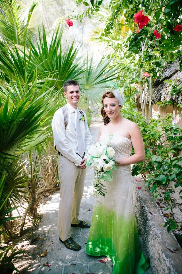 A Beautiful Wedding In Mexico Featuring Dress Created Using Simply Spray Soft Fabric Paint And Designed By M Designs Morgan Culture