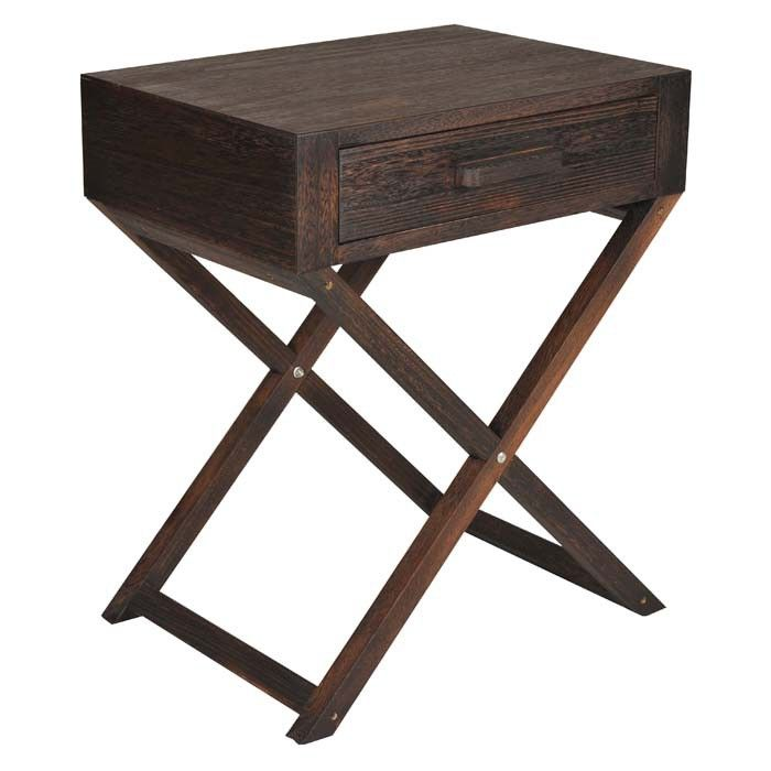 <p>The Vintage hand stained furniture range from Core Products is stylish and affordable. Designed with a inspirational vintage effect the range is handcrafted from Paulomia and Paulomia veneered plywood in a Chinese workshop. Each piece is hand stained and lacquered and then a further 2 coats of lacquer are applied to build an aged character. These processes ensure no two pieces are ever identical. The Vintage side table has an attractive cross-leg design and a small drawer to tidy away ...