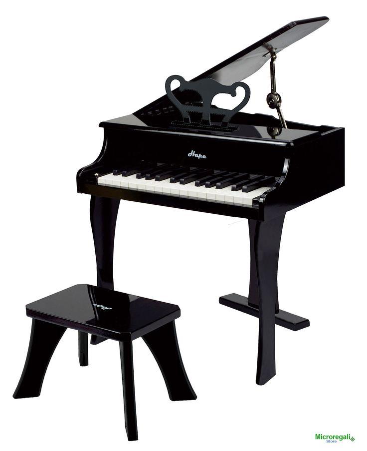 PIANOFORTE ALLEGRO NERO in Legno cm 50x52x60 per bambini. Età 3A+ Hape