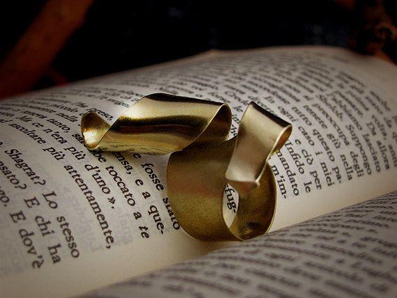 Anello in ottone Fedina ottone simil oro Anello di ArteNascosta