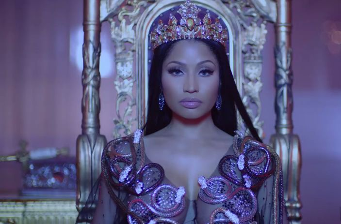 indscene:    Nicki Minaj Drake Lil Wayne No Frauds video premiere  Today Nicki Minaj Drake and Lil Wayne premiered the video for their collaborative track No Frauds. Check it out below.  reblogged with tintum.