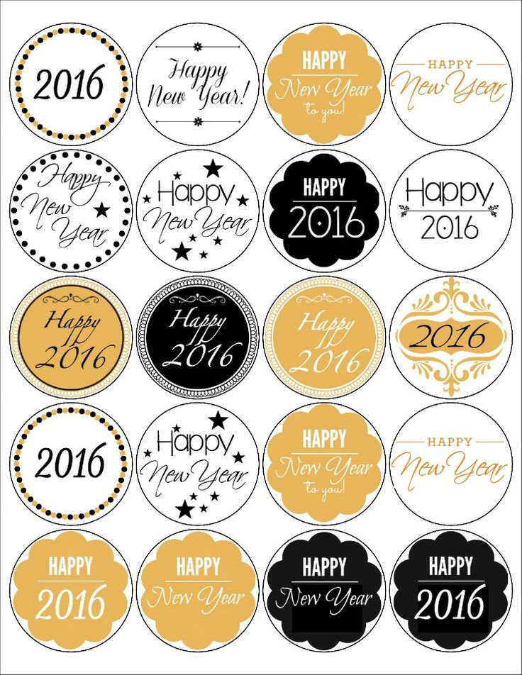 Free Printable New Year Labels. Use them to help package your baked goods so you and your friends can help ring in the New Year in style.