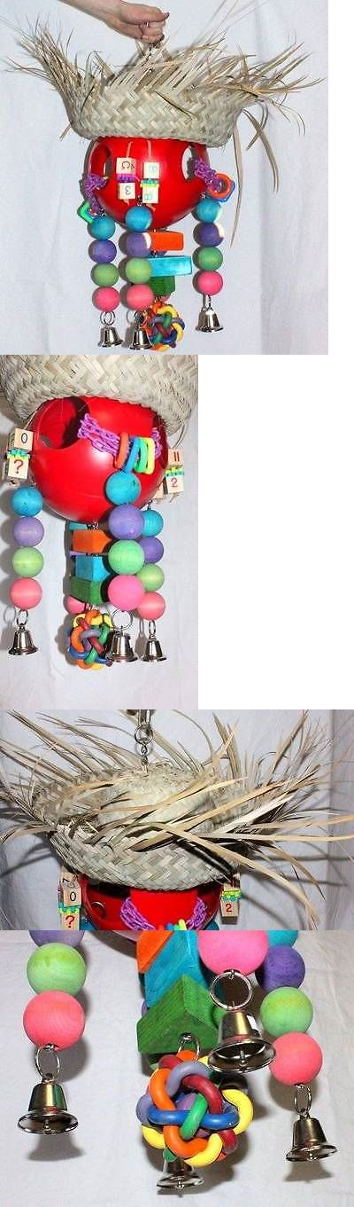 Toys 20736: Large Parrot Playground Midwest Bird Toys Macaw Amazon African Grey Cockatoo Toy BUY IT NOW ONLY: $62.0