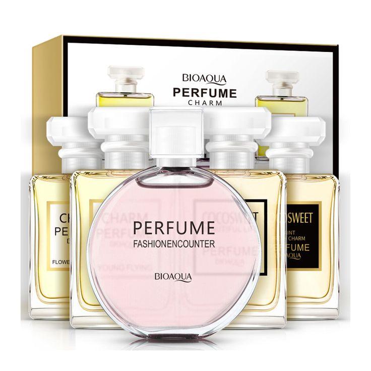 Bioaqua 5ピース/ロット液体フェロモン女性香水100%ナチュラルフレグランススプレー香りパルファム用女性制汗でボトル