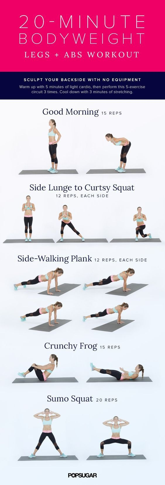 20-Minute Legs + Abs Bodyweight Workout