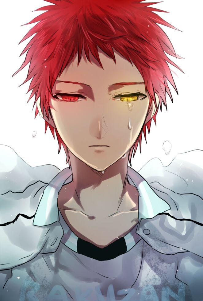 Anime Characters Yellow Eyes : Akashi kuroko no basket pleure pinterest