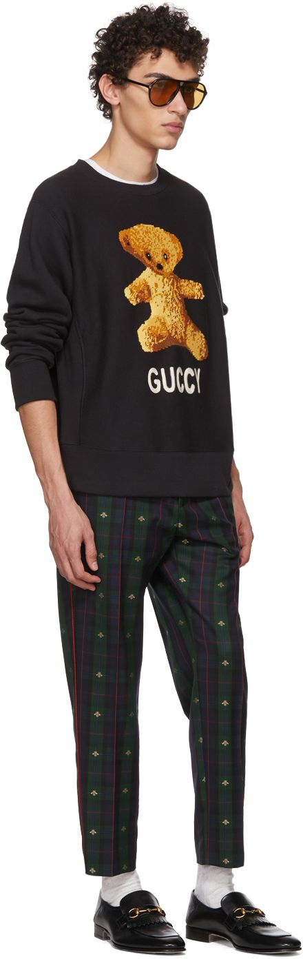 Gucci - Black Teddy Bear Sweatshirt