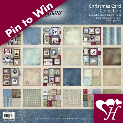 Follow us and Repin for a chance to win. A Christmas Card Collection Paper pad giveaway... 2 winners will be random selected. Contest closes Nov. 24th, 2013 at 11:59 PM. Winners will be announced in a Pin on Nov.25th, 2013. Good Luck!