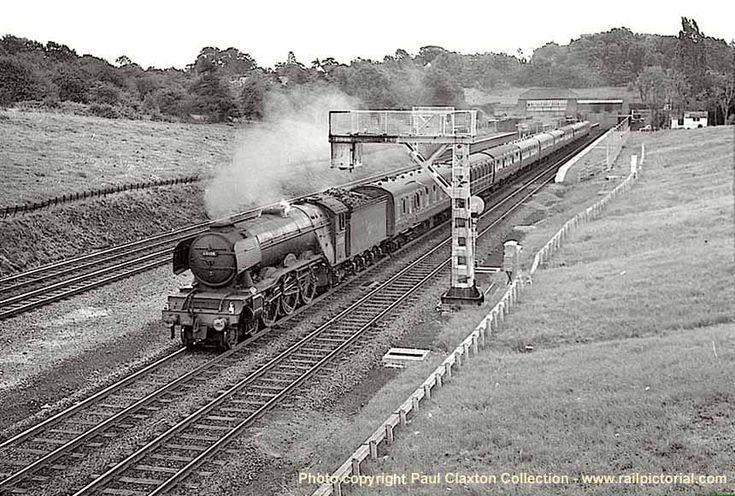 Class A3 No 60048 Doncaster emerges from North Tunnel with a Grantham to Kings Cross express on 24 August 1962.