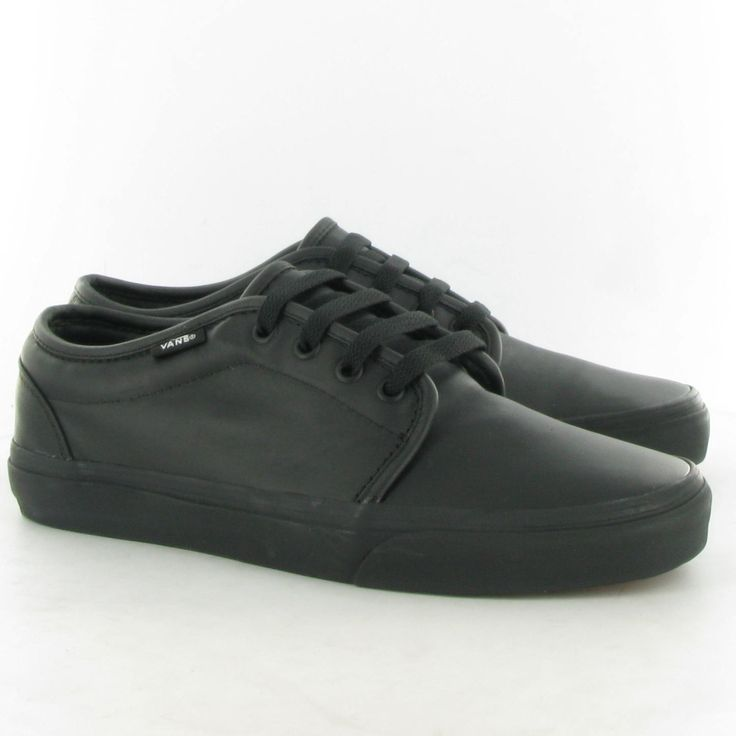 vans | Home / Vans 106 Vulcanized Leather Lace Shoes Black Leather