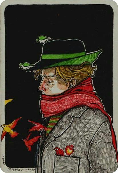 почтовые открытки зеленая лампочка атласной юбкой, атласные