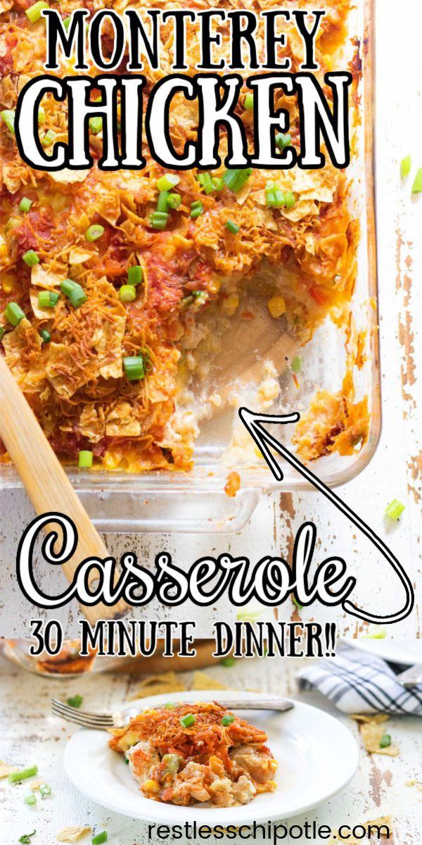 Monterey Chicken Casserole Recipe Monterey Chicken Chicken Casserole Dinner Recipes Easy Family