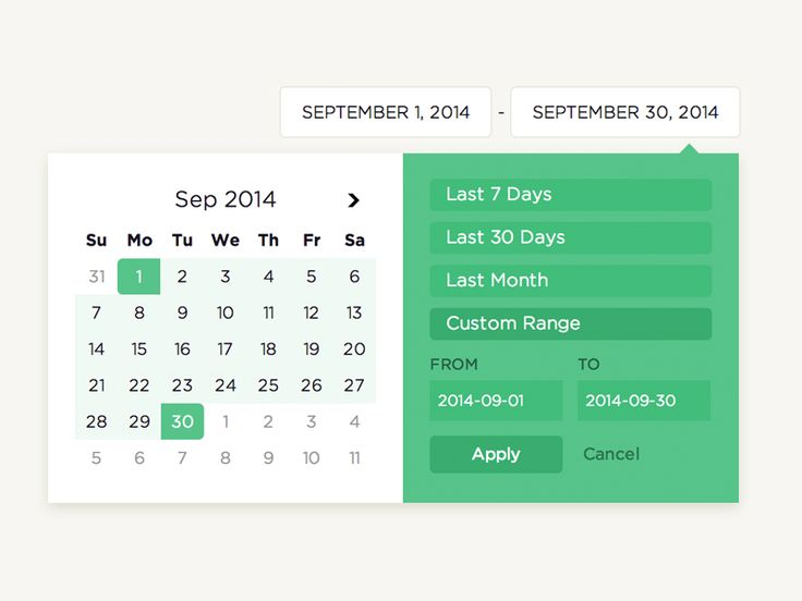 Date picker for Attribution.    Check it in context here: https://attributionapp.com/
