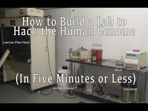 How to Build a Lab to Hack the Human Genome (In Five Minutes or Less) - YouTube