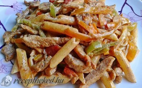 Csirke fajita pennével recept