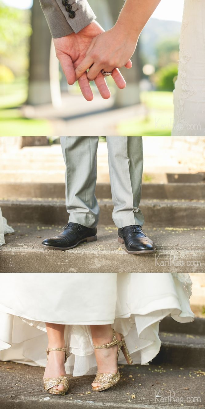 wedding details - gold shoes - Kari Rae Photography | Doug & Amanda Pre-Wedding Session | Portland Wedding Photographer