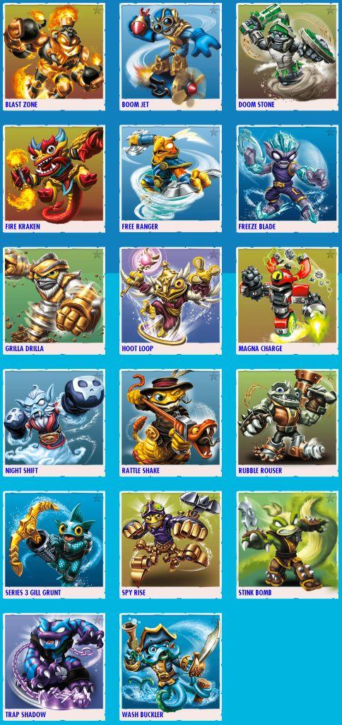 The Skylanders SWAP Force characters