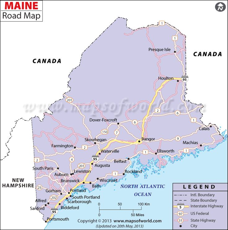 Road Map Central Maine