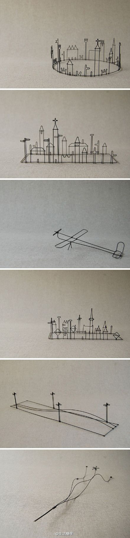 creative and simple wire sculpture