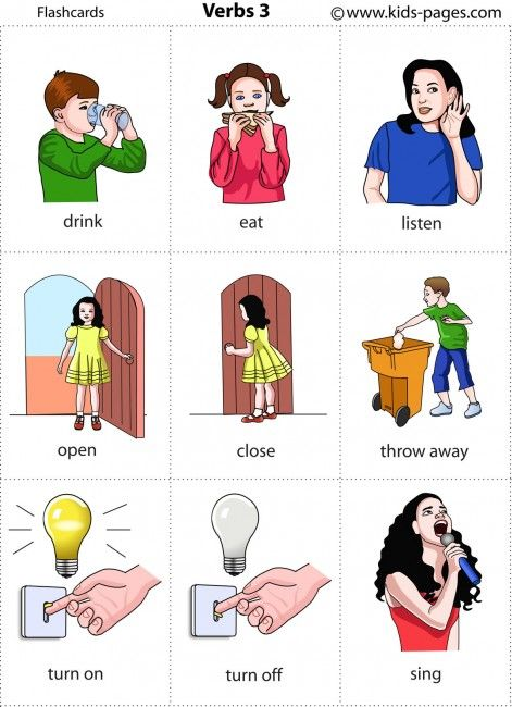 Actions 3 flashcard