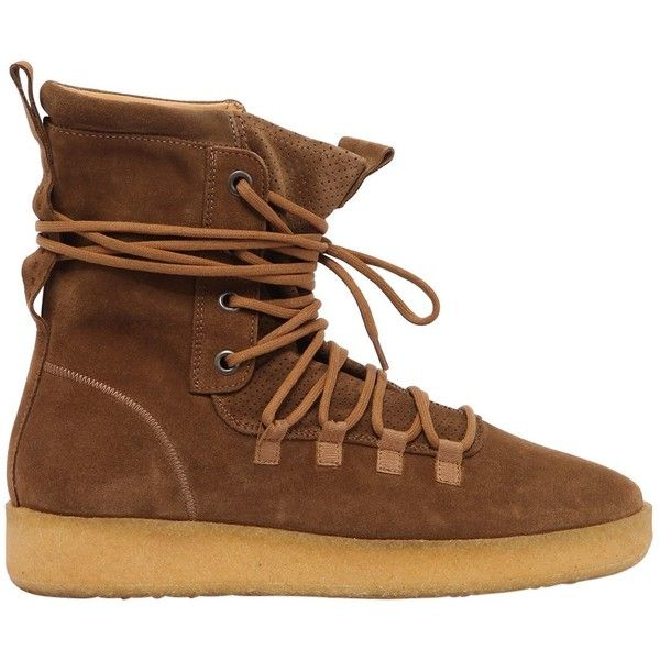 Represent Men Dusk Suede Boot (2,605 CNY) ❤ liked on Polyvore featuring men's fashion, men's shoes, men's boots, brown, mens boots, mens brown suede boots, mens brown suede shoes, mens shoes and mens brown boots