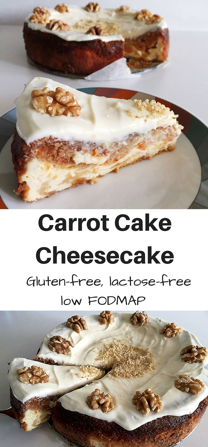 A carrot cake cheesecake is the best of both worlds! Carrot cake and cheesecake in one! Allergy-friendly: gluten-free, lactose-free and low FODMAP.