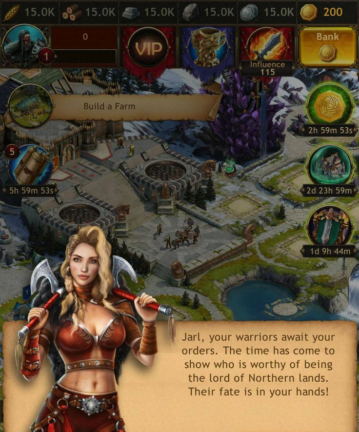 Viking: War of Clans graphics are stunnings